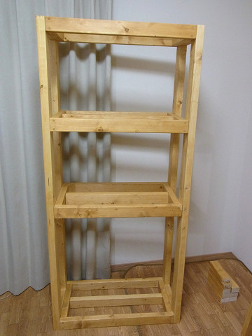 多段連結オーバーフロー水槽用の自作水槽台