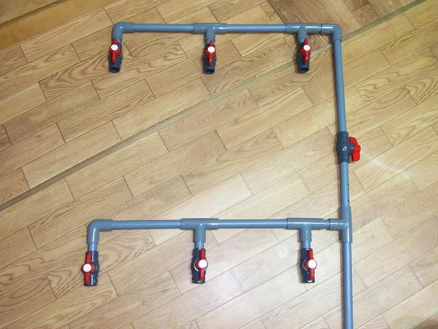 給水用配管の仮組み