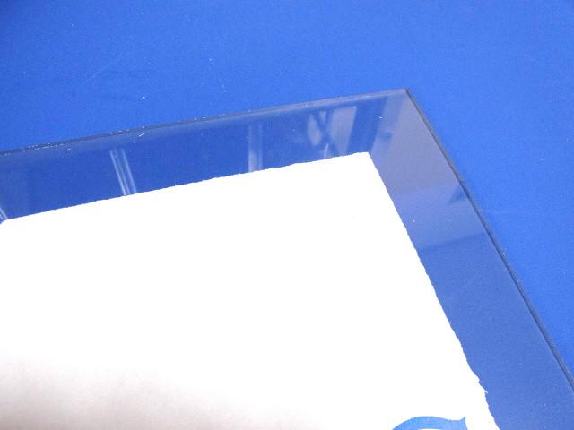 キズが付かないように保護紙を残した塩ビ板