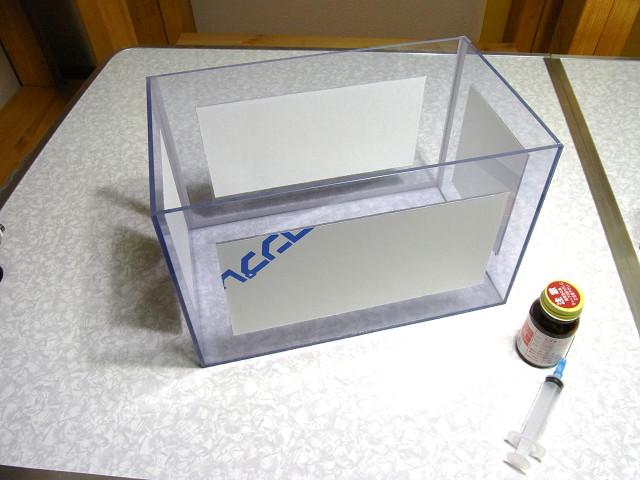 塩ビ製ウールボックスの自作作業