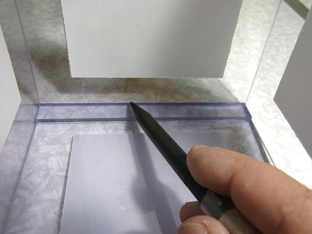 ウールボックスの補強板の取り付け作業