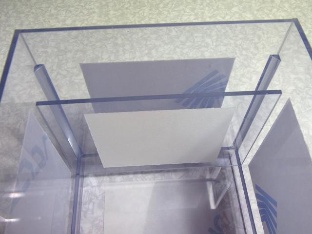 ウールボックスの溢れ防止用仕切板