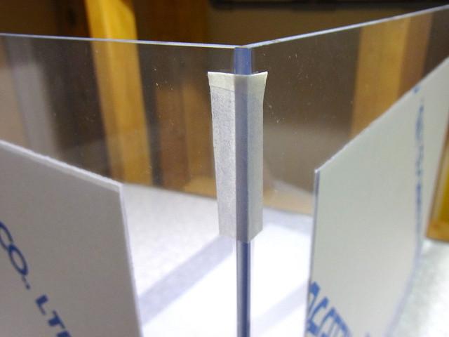 塩ビ濾過槽を自作するときのマスキングテープ