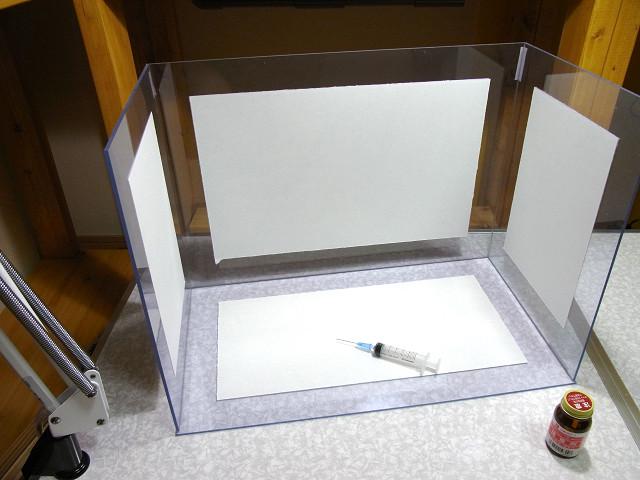 塩ビ製濾過槽の自作の様子