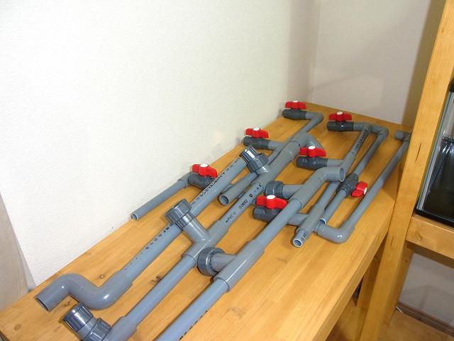多段連結オーバーフロー用の水槽