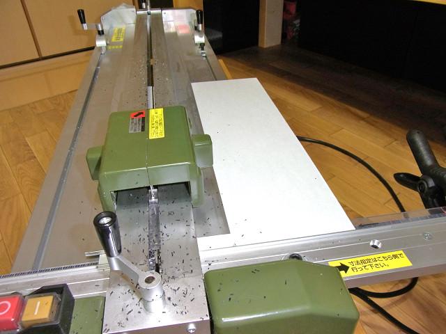 水槽用コーナーカバーを自作するための塩ビ板をプロクソンのスライドソウでカット