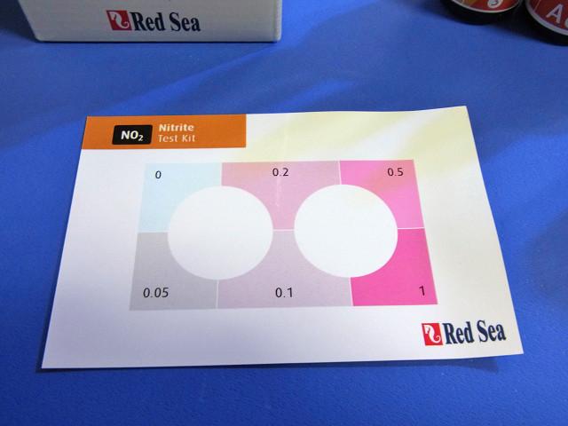 硝酸塩/亜硝酸塩テストキットの亜硝酸塩用カラーカード