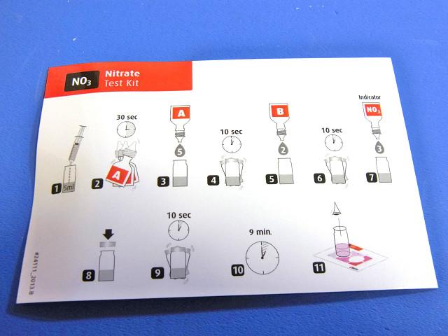 硝酸塩/亜硝酸塩テストキットの測定方法