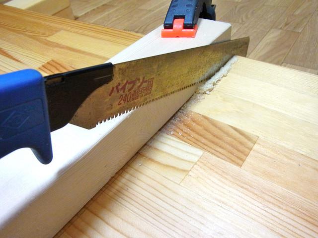 棚板用の板をカット