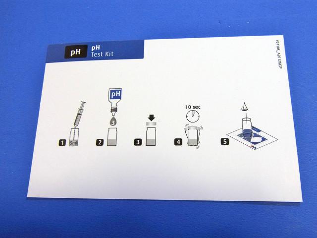 pH/アルカリニティテストキットのカラーカード