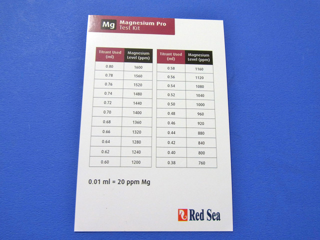 マグネシウムプロテストキットの説明カード