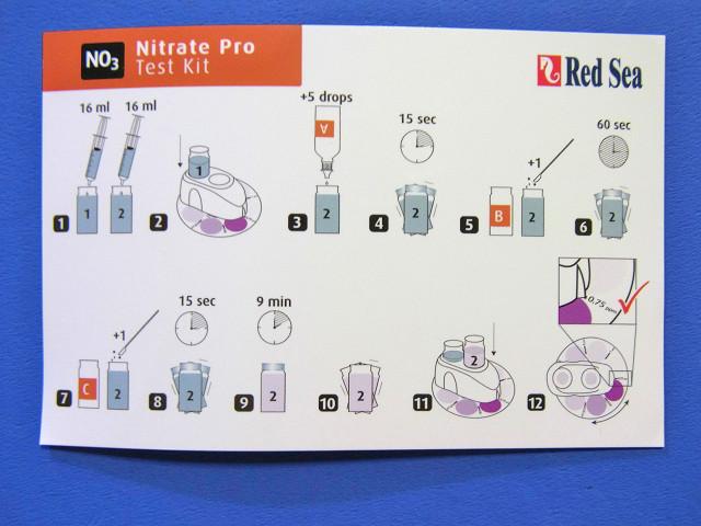 硝酸塩プロテストキットの説明カード