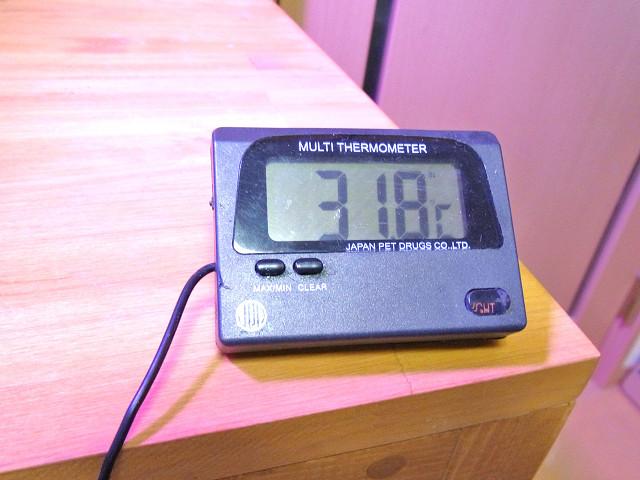 海道システムを設置している部屋の室温