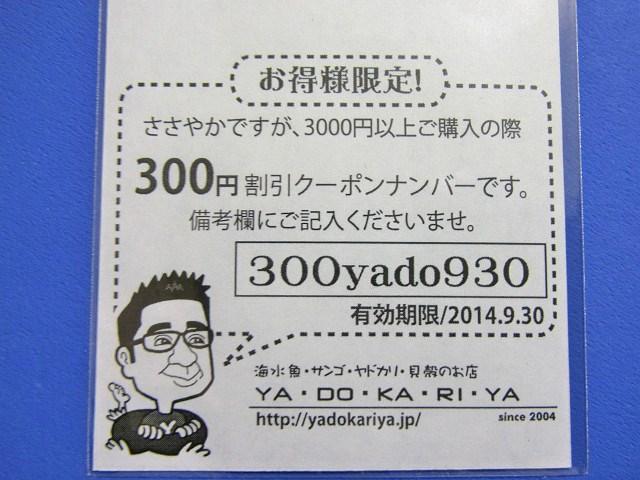 やどかり屋さんの300円割引クーポン