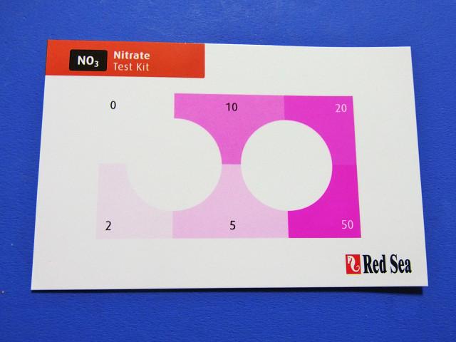 硝酸塩/亜硝酸塩テストキットの硝酸塩用カラーカード