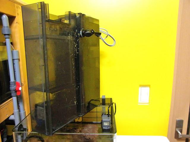 海道システム(海道水槽)の濾過槽ユニットの取り外し